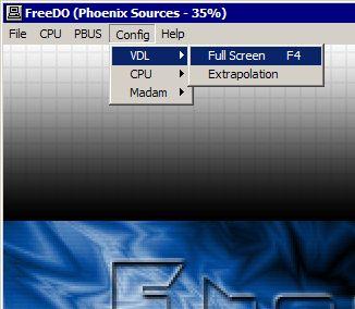 Emulando 3DO - Executando os jogos em tela cheia: Passo 1
