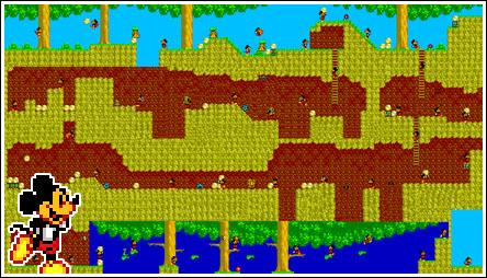 Mapa completo da primeira fase de Castle of Illusion