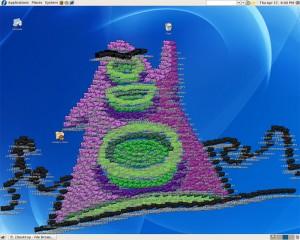 Purple Tentacle dominando o seu desktop!